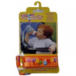 Petite Creations No Throw Bottle Holder, Orange Letters