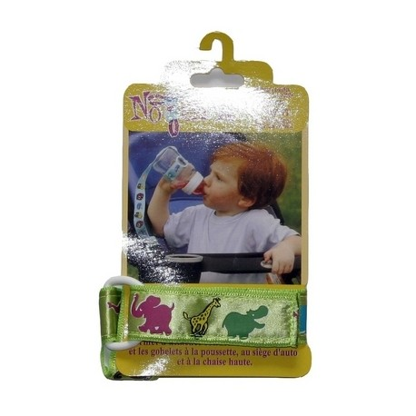 Petite Creations No Throw Bottle Holder, Green Animals