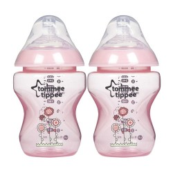 Tommee Tippee Closer To Nature Decorated Bottle 260ml / 9 fl oz  - Pink