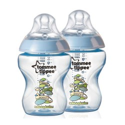 Tommee Tippee Closer To Nature Decorated Bottle 260ml / 9 fl oz  - Blue