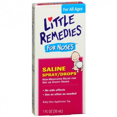 Little Remedies for Noses Saline Spray/Drops 1 fl oz (30 ml)