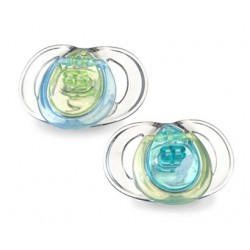 Tommee Tippee Pure Soothers, 3-9 months, 2 Pack