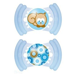 MAM Soft Soother 6m+ With Teether Edges (2 Pack), Blue