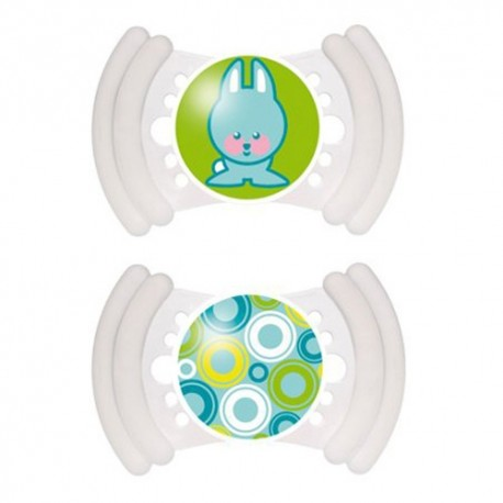 MAM Soft Soother 6m+ With Teether Edges (2 Pack), green