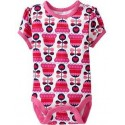 Old Navy Printed Bodysuits for Baby Girl, Pink Tulip