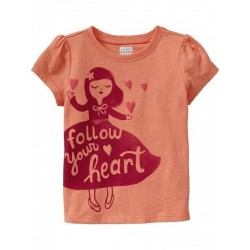 Old Navy Printed Shirt for Girls, Follow Your Heart