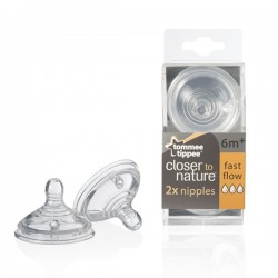 Tommee Tippee Fast Flow Nipples, 2 Pack