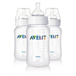 Philips AVENT 11 Ounce BPA Free Classic Polypropylene Bottles, 3-Pack