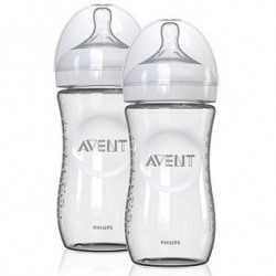 Philips Avent  8oz Natural  Glass Bottles 2 pack
