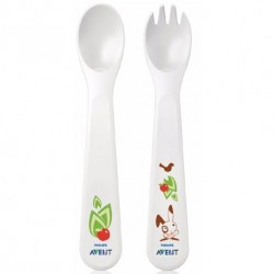 Philips AVENT Toddler Fork and Spoon 12M+