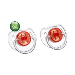 AVENT Translucent Soother Pacifier, 6-18 Months, Red
