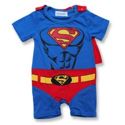 Superman Romper with Cape