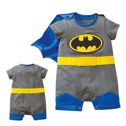 Batman Romper with Cape