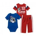 Garanimals Boys 3 Piece Creeper and Pant Set