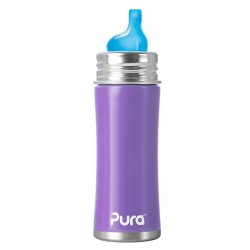 Pura Kiki 11 Oz Sippy Bottle with XL Sipper Spout, Grape