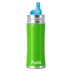 Pura Kiki 11 Oz Sippy Bottle with XL Sipper Spout, Green