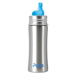Pura Kiki 11 Oz Sippy Bottle with XL Sipper Spout, Natural