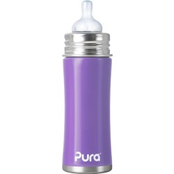 Pura Kiki 11oz Infant Bottle with Natural Vent Nipple, Lavender