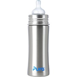Pura Kiki 11oz Infant Bottle with Natural Vent Nipple, Natural
