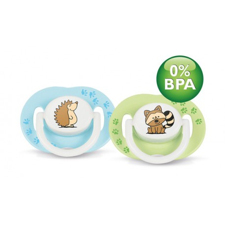AVENT Fashion Soothers, 3-6 months, Boys