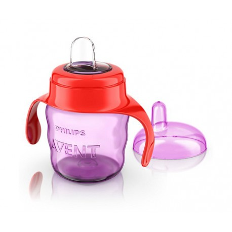 Avent Easy Sip Spout Cup with Handle 7oz / 200 mL, Pink