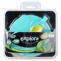 Explora Easy Scoop Feeding Bowl With Lid, Green
