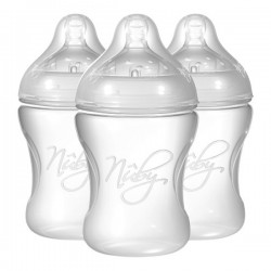 Nuby Natural Touch SoftFlex Natural Nurser 240mL / 8oz, 3 Bottle Pack