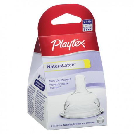 Playtex NaturaLatch Nipple Y Cut, 2 Pack