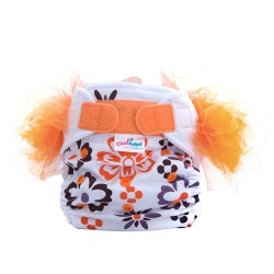 Cluebebe Pocket Classic Tutu Cloth Diaper, Orange