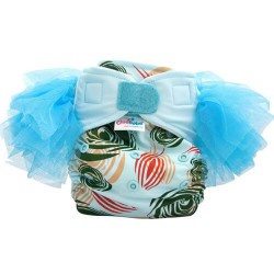 Cluebebe Pocket Classic Tutu Cloth Diaper, Blue