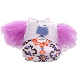 Cluebebe Pocket Classic Tutu Cloth Diaper, Purple