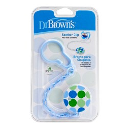 Dr Brown Soother Clip, Blue