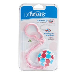 Dr Brown Soother Clip, Pink