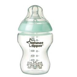 Tommee Tippee Closer To Nature Decorated Bottle 260ml / 9 fl oz  - Green