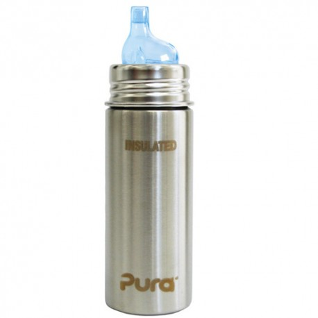 Pura Kiki Insulated Toddler Sippy Bottle 9oz, Natural