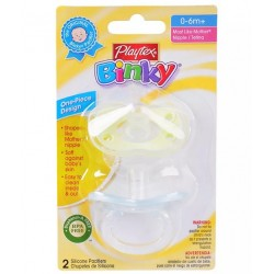 Playtex Binky Silicone Pacifier, 0-6 months+