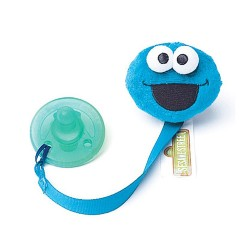 Petite Creations Sesame Street Pacifier Clip, Cookie Monster