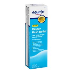 Equate Creamy Diaper Rash Relief Zinc Oxide Ointment, 4 oz