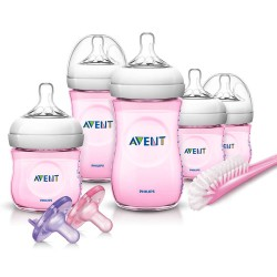 Philips AVENT Natural Pink Infant Starter Set, BPA-Free, Girl