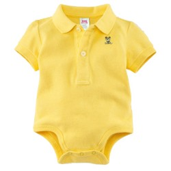 Minizone Baby Romper with Collar - Yellow