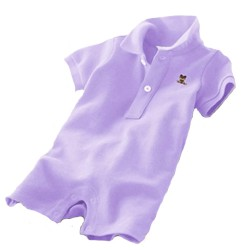 Minizone Baby Romper Shorts with Collar - Purple