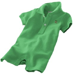 Minizone Baby Romper Shorts with Collar - Green