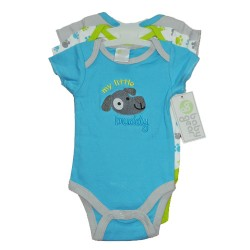 Short Sleeve Bodysuits 3-Pack