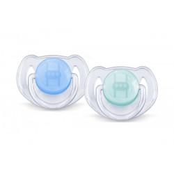 AVENT Translucent Soother Pacifier, 6-18 Months, Blue Green