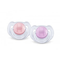 AVENT Translucent Soother Pacifier, 6-18 Months, purple-pink