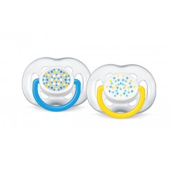 AVENT Contemporary Freeflow Pacifier, 6-18 months, 2 Pack