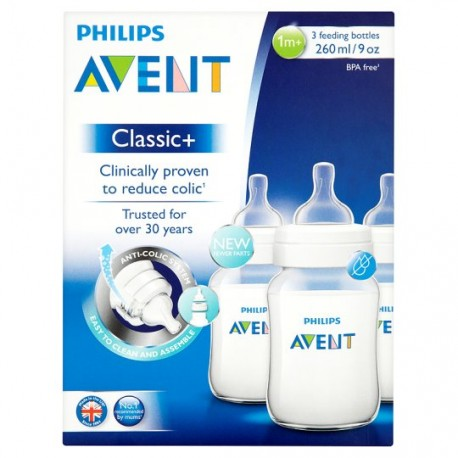 AVENT Classic+ 9 oz (3 Bottle Pack)