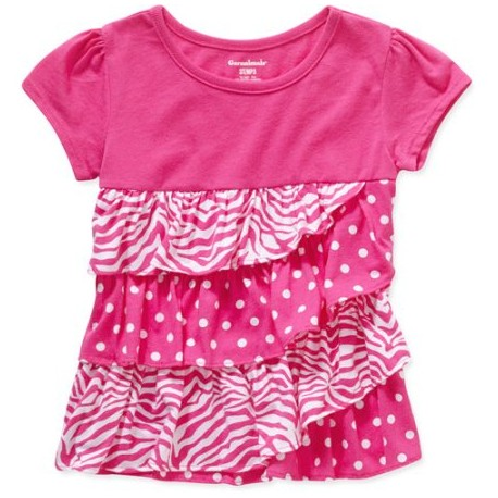 Garanimals Baby Toddler Girl Tiered Ruffle Tee