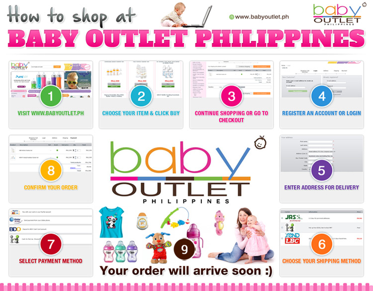 how to shop at Baby Outlet Philippines